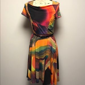 Colorful New Directions Dress w/ Belt